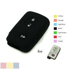 Silicone Cover Shell fit for TOYOTA Smart Remote Key Case 3 BTN Fob CV4403 BK