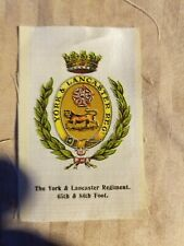Vintage Tobacco silks silk York Lancaster Regiment 65th 84th