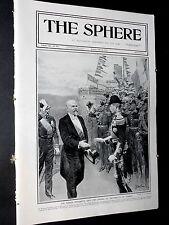 1913 The SPHERE- Matania Cover,Polo Hurlingham,Argyrocastro Greece,Boulters Lock