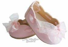 "GORGEOUS Pink Ribbon Slipon Dress Shoes for 18"" American Girl Doll Clothes"