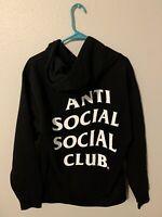 Anti Social Social Club ASSC White logo Mind Games Black Hoodie Free Shipping