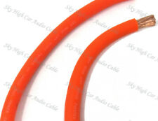 10 ft 1/0 Gauge Oversized AWG ORANGE Power Ground Wire Sky High Car Audio Cable