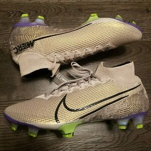 NIKE Mercurial Superfly 7 Elite FG Soccer Cleats Boots Mens 10.5 Sand AQ4174 005