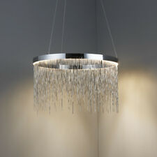 Endon Zelma Pendant Ceiling Light Silver Effect Chain 30W LED Module Warm White
