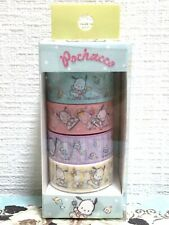 Lovely Cute Kawaii Sanrio Character Pochacco Masking Tape 4 pc Washi Craft JAPAN