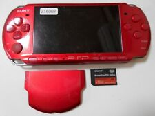 Z16008 Sony PSP-3000 console Radiant Red Handheld system Japan w/SD Card x