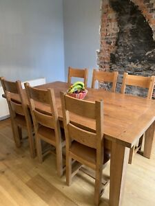 barker and stonehouse Solid Oak dining table and chairs