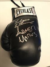 Black Everlast Glove By Leo Santacruz And Abner Mares With Proof
