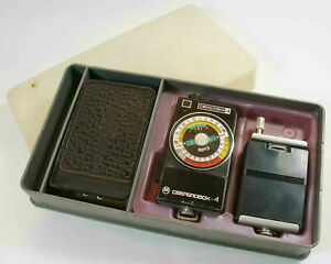 USSR Sverdlovsk 4 great Russian exposure meter + battery AA adapter & box (s10)