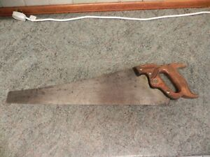 "Vintage 26"" panel hand cross cut saw old tool Keystone Challenger by Disston USA"