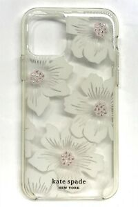 kate spade Hard Shell Clear Case for iPhone 11 Pro, Stones/Hollyhock Floral