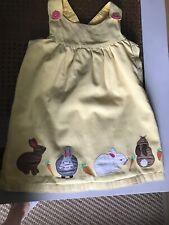 Mini Boden 2-3 Girls Yellow Rabbit Dress ❤️ Cotton