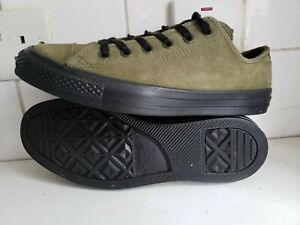 Converse All Star CT OX Mens Womens Low Trainers Olive Green Suede UK 8 EU 41.5
