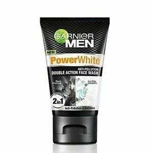 1 PCs GARNIER MEN POWER WHITE ANTI-POLLUTION FACE WASH FREE SHIPPING