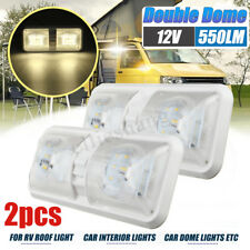 2X 48 LED Double Dome Roof Ceiling Light 12V For RV Boat Camper Trailer Marine