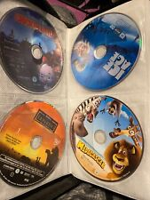 Lot of Kids Movies Dvds Madagascar Shrek Trilogy More in Mainstays Carrying Case