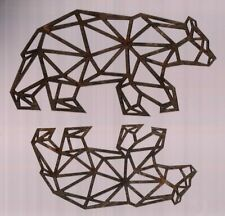 """2 NEW wooden plaques   -  Grizzly / Black Bears - 3D cut - 3"""" x 5½"""" - superfleas"""