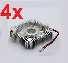 4 PCS 55mm 2PIN Aluminum Snowhite Cooling Fan Heatsink Cooler  VGA CPU FS006 B7