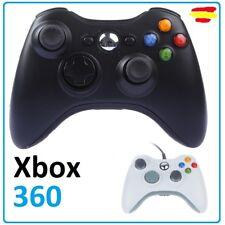 Mando compatible para Xbox 360 con cable USB PC wired gamepad color negro blanco
