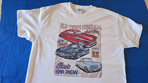 Car Show Tee Shirt Vintage Cars Trucks Newhall Santa Clarita 2016 CA