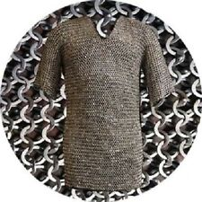 Chain mail Shirt 9 mm 18 gauge Flat Ring Dome Riveted With Soiled Ring XXL Size