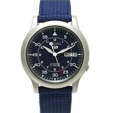 Seiko 5 SNK807K2 Automatic Military Blue Nylon Strap Analog Watch