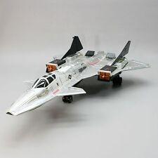 Vtg 1986 GI Joe Sky Patrol Sky Raven Jet Silver Chrome Hasbro Stealth Bomber