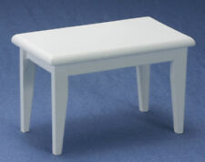Dollhouse Miniatures 1:12 Scale Table, White #CLA10211