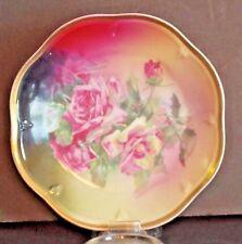 Mignon ZS&C Bavaria La France Rose Plate 19'th Century