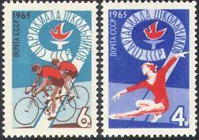Russia 1965 SPARTACHIADI/Sport/Giochi/Ciclismo/Moto/ginnastica 2 V Set (n17810)