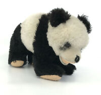 Vintage Panda Bear on all fours Dralon Plush 15cm 6in Germany no ID