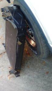 1930 ford radiator fits chevy v8