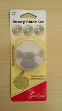 New-Sew Easy- Set of Three 45mm Straight Baldes suitable for 45mm Rotary Cutter