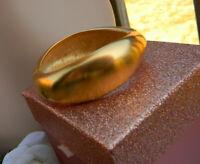 Vintage Goldtone Matte Hinged Bracelet Unique