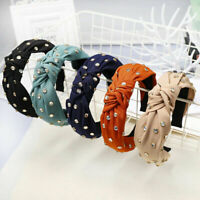 Women's Wide Headband Twist Hairband Bow Knot Tie Hair Band Hoop Accessories