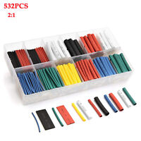 532Pcs Heat Shrink Tubing Insulation Shrinkable Tube 2:1 Wire Cable Sleeve Kit