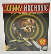 Johnny Mnemonic Interactive Action Movie Vintage Big Box PC Software Win 3.1 DOS