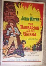 1958 JOHN WAYNE  original 27 x 41 Movie poster THE BARBARIAN AND THE GEISHA