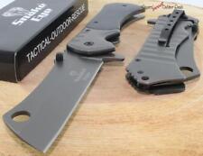 "9"" SNAKE EYE Gray Black Hardwood Razor Blade Spring Assisted Opening Knife New"