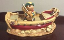 Rare Pendelfin Betsy Barge Display Accessory & Capt. Musket Rabbit V.G. P/O Cond