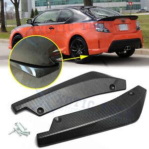 For Scion tC xB FR-S Rear Bumper Splitter Diffuser Canard Carbon Fiber ABS - 2pc