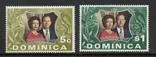 Dominica 1972 Silver Wedding SG 366/7 MNH