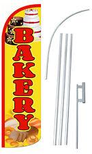 Bakery Flutter Feather Flag Sign Blade Banner 30 Wider Super Swooper