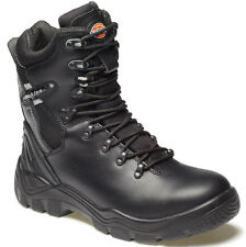 DICKIES QUEBEC ZIP UNLINED SAFETY BOOTS SIZE UK 8 EU 42 FD23376 BLACK BOOTS