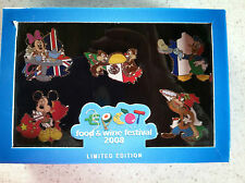 Disney WDW EPCOT® Intern'l Food and Wine Festival 2008- Boxed 5 Pin Set LE 500