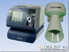 Werkstattstempler Stempeluhr Amano PIX 200 Belegstempler Datumsstempler Stechuhr