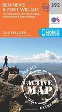 OS Explorer Map Active (392) Ben Nevis and Fort William, The Mamores and The Gre