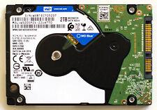 "Western Digital WD Blue 2TB WD20SPZX 22UA7T0 2TB 2.5"" SATA HDD"