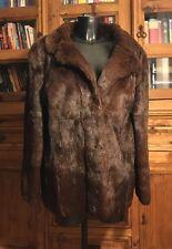 Vintage Genuine Real Fur Coat/Jacket Ladies Medium Length Brown Stunning