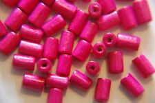 20 Acrylic Beads 4-6mm Tube Bead In Hot Pink BNIP Jewellery Making /& Craft FB017